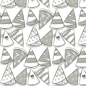 grey party hats