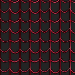 Webbed black and red