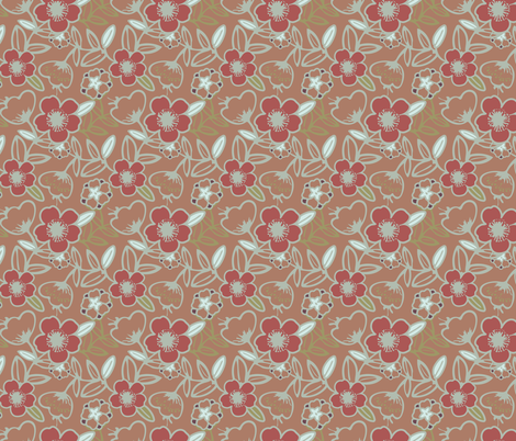 Polynesian Flowers Finals v2-02 fabric by the_wookiee_workshop on Spoonflower - custom fabric