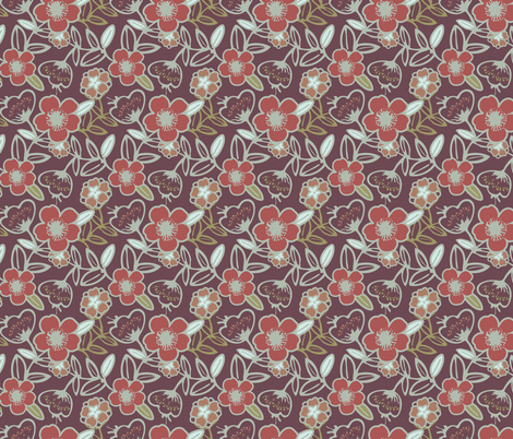 Polynesian Flowers Finals v2-01 fabric by the_wookiee_workshop on Spoonflower - custom fabric