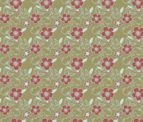 Polynesian Flowers Finals v2-03 fabric by the_wookiee_workshop on Spoonflower - custom fabric