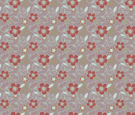 Polynesian Flowers Finals v2-07 fabric by the_wookiee_workshop on Spoonflower - custom fabric