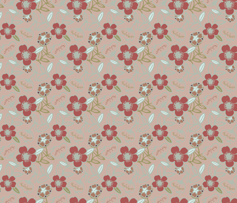 Polynesian Flowers Finals v2-08 fabric by the_wookiee_workshop on Spoonflower - custom fabric