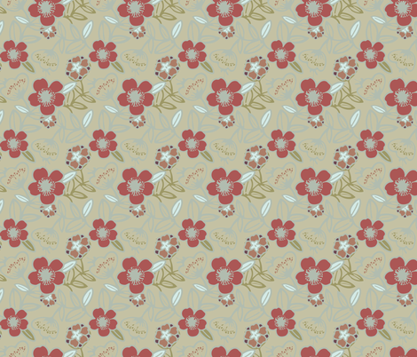 Polynesian Flowers Finals v2-09 fabric by the_wookiee_workshop on Spoonflower - custom fabric
