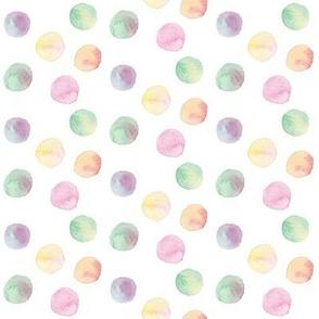 vibrant multi watercolor dots