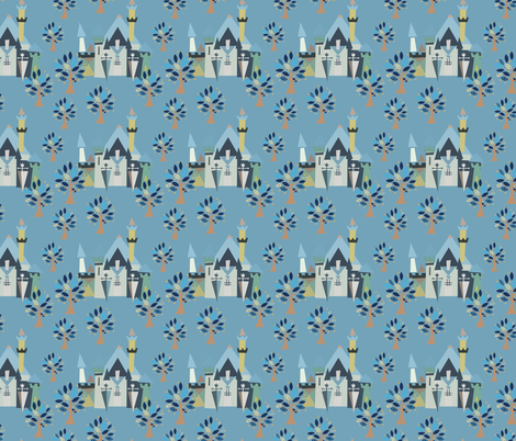 Castle v3-01 fabric by the_wookiee_workshop on Spoonflower - custom fabric