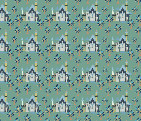 Castle v3-02 fabric by the_wookiee_workshop on Spoonflower - custom fabric