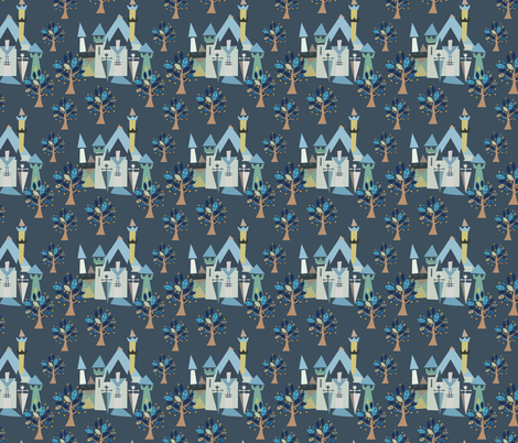 Castle v3-04 fabric by the_wookiee_workshop on Spoonflower - custom fabric