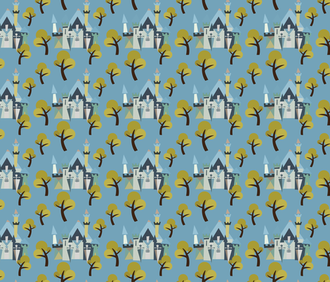 Castle v3-07 fabric by the_wookiee_workshop on Spoonflower - custom fabric