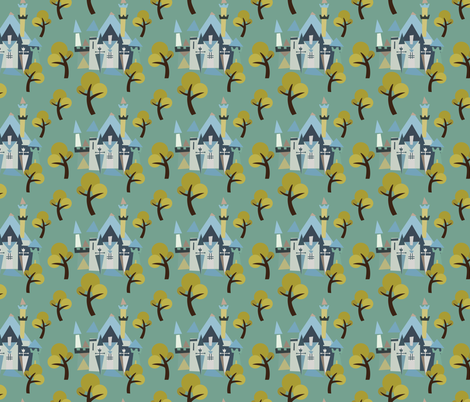 Castle v3-08 fabric by the_wookiee_workshop on Spoonflower - custom fabric