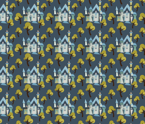 Castle v3-10 fabric by the_wookiee_workshop on Spoonflower - custom fabric