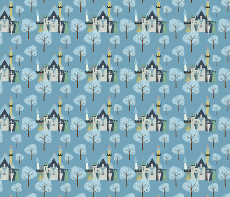 Castle v3-13 fabric by the_wookiee_workshop on Spoonflower - custom fabric
