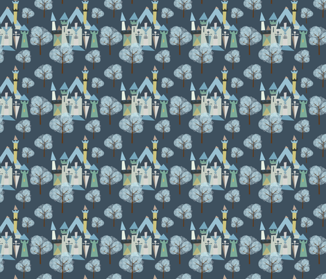 Castle v3-16 fabric by the_wookiee_workshop on Spoonflower - custom fabric