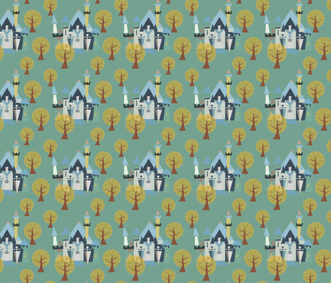 Castle v3-20 fabric by the_wookiee_workshop on Spoonflower - custom fabric