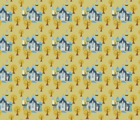 Castle v3-23 fabric by the_wookiee_workshop on Spoonflower - custom fabric
