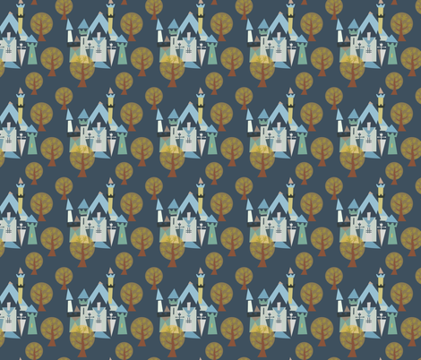 Castle v3-22 fabric by the_wookiee_workshop on Spoonflower - custom fabric