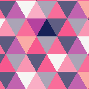 . Abracadabra_Complimentary pink and purple cheat quilt triangles.