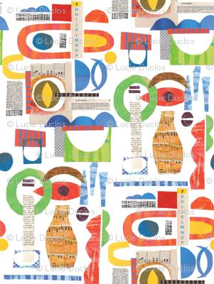 Bauhaus Modernist Collage