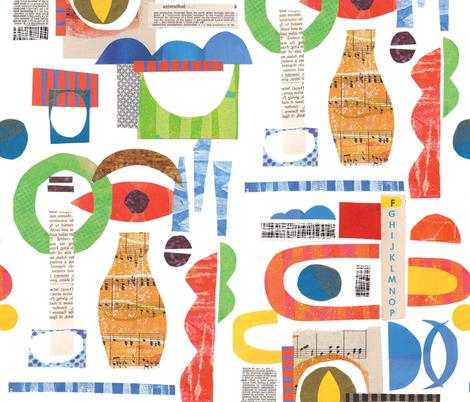 Bauhaus Modernist Collage fabric by snowflower on Spoonflower - custom fabric