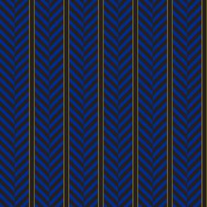 herringbone blue stripe