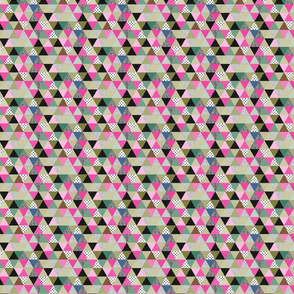 triangles coloured and textured_pink and green-03