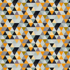triangles coloured and textured_mint and mustard-04-02