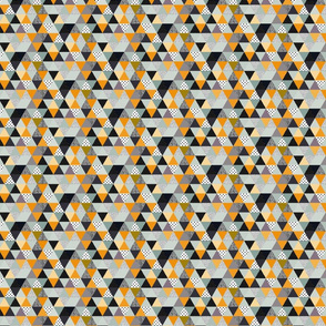 triangles coloured and textured_mint and mustard-04-03