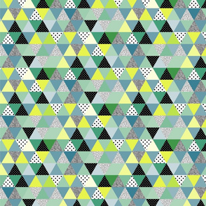 triangles coloured and textured_greenies-02