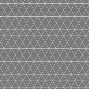 .Small grey triangles.