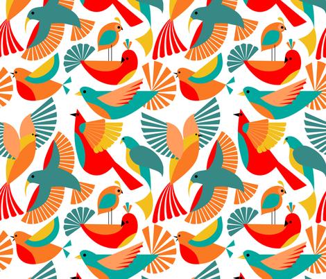 Boom Chicka Bau Bau  fabric by vo_aka_virginiao on Spoonflower - custom fabric