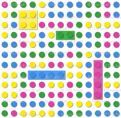 Dot pattern - brick style