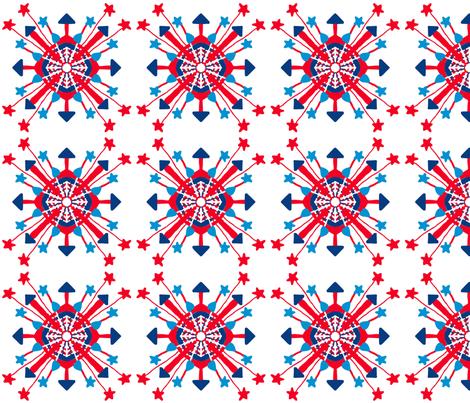 Firecracker Rockets Mandala fabric by palifino on Spoonflower - custom fabric