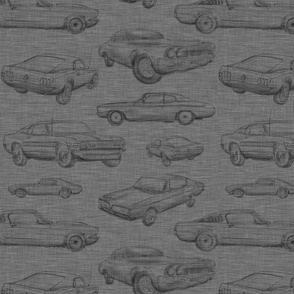 Muscle Cars - Dark grey linen