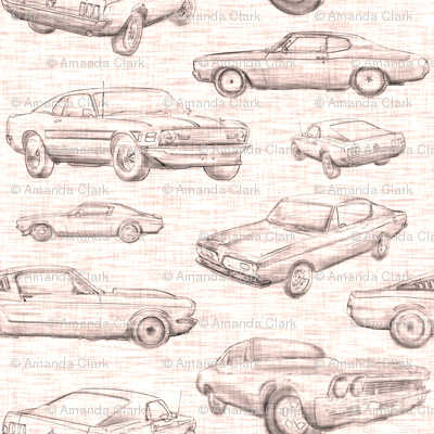 Muscle Cars - sepia