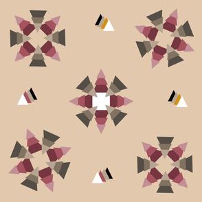 Mauve Triangle Textile