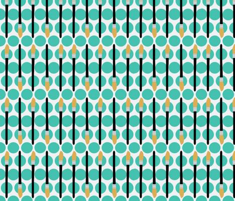 Dotty Brushes fabric by kae50 on Spoonflower - custom fabric
