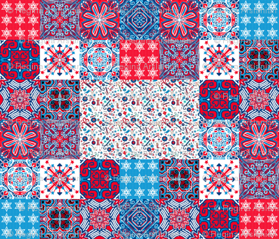 July4 Cheater Quilt, by yard