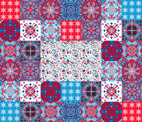 July4 Cheater Quilt, by yard fabric by palifino on Spoonflower - custom fabric