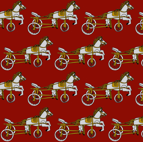 Victorian Child's Pony Tricycle fabric by edsel2084 on Spoonflower - custom fabric