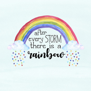 Rainbow Baby//After Every Storm There is a Rainbow - 27 inch