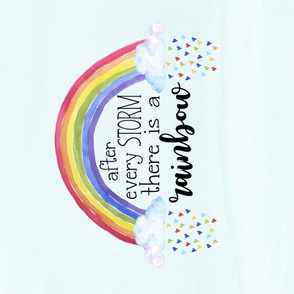 Rainbow Baby//After every storm there is a rainbow - 1 yard layout