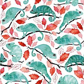 Chameleon garden red leaves