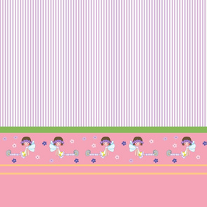 Flower stripes purple and white, Fairy girl collection