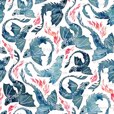 Dragon fire blue small