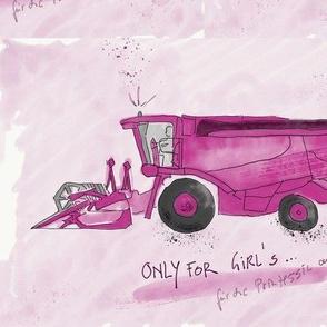 Mein Mähdrescher in pink
