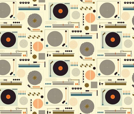 Bauhaus Records fabric by katerhees on Spoonflower - custom fabric