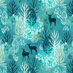 Emerald forest deer