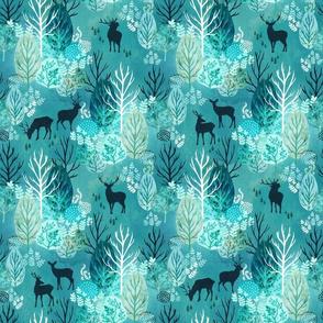 Emerald forest deer small
