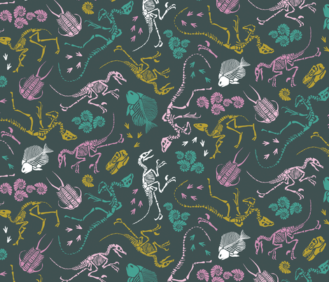 Dinosaur Discoveries fabric by tishyaoedit on Spoonflower - custom fabric
