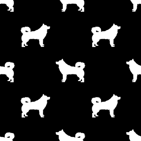 alaskan malamute silhouette dog breed fabric black and white fabric by petfriendly on Spoonflower - custom fabric